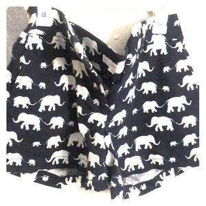 Elephant print Ann Taylor LOFT shorts